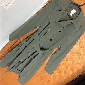 Khaki green trench coat